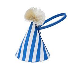 party hat bag - blue