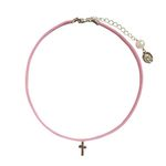 pink cross choker