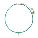 mint cross choker