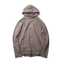 NO WAVE DISTRESSED HOODIE TAUPE GRAY