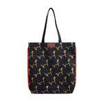 Pattern eco bag - Puppy Gray