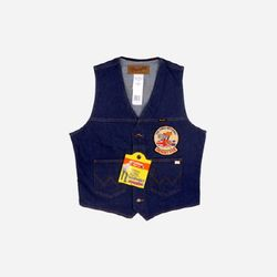 Unlined Denim Vest Desert Fox