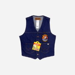 Unlined Denim Vest VF-31