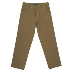 COTTON FATIGUE PANTS - BEIGE