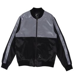 TWO TONE BLOUSON - BLACK