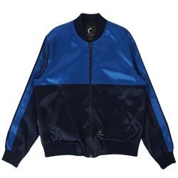 TWO TONE BLOUSON - BLUE