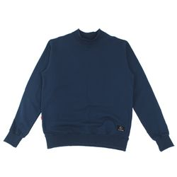 HALF NECK SWEAT SHIRT - NAVY