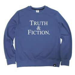 TRUTH & FICTION Crewneck Blue