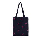 Special klover pattern shoulder bag - navy
