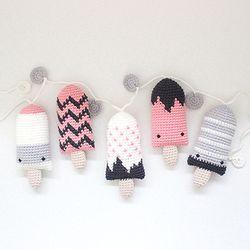 [손뜨개 DIY] 아이스크림 손뜨개 가랜드 kit (핑크)