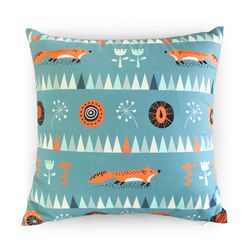 Art Fabric Cushion Cover - 여우 숲[40x40cm]