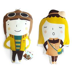 Animal Doll Cushion - 댄과 고니