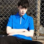 ZIP PK T-Shirt Half (BLUE)