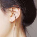 Pearl River- Mini pearl Silver earring
