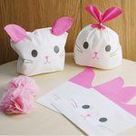 복주머니형 -귀 삽입형 핑크고양이 15x18 -5매