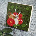 몰랑이 작은 나무시계 - 동백꽃