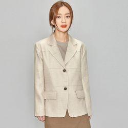 line detail linen jacket (3 colors)