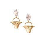 웨하스 바스켓- leaf garden earring