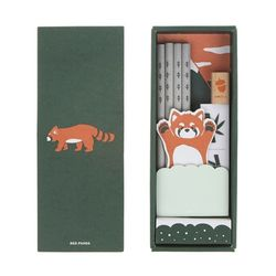 eco stationery set ver.8 - red panda