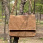 Wax Canvas Camel Mail Bag