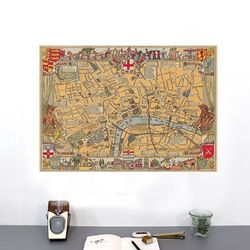 cavallini 포스터+보관통 Set - Vintage Map