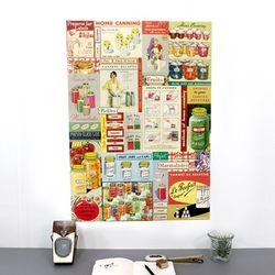 cavallini 포스터+보관통 Set - Cook