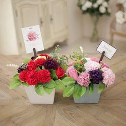 프렌치 스타일 카네이션 센터피스-비누꽃