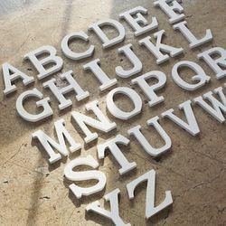 원목 알파벳 이니셜우드(대문자-화이트)