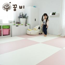 [꿈비 짱짱매트]모네 P200-러브핑크 놀이방 아기매트