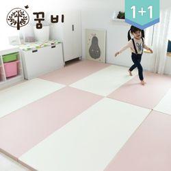 [꿈비 짱짱매트]모네 P200-러브핑크 2개놀이방아기