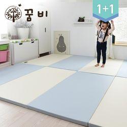[꿈비 짱짱매트]모네 P200-인디블루 2개놀이방아기