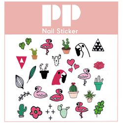 PP NAIL STICKER - FLAMINGO