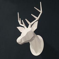 IDDA Paper Hunting Trophy-Deer Head-White