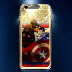 아이폰6+ 6s+ 시빌워 라이팅 케이스 - 캡틴아메리카