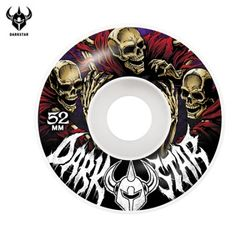 [DARKSTAR] CRUSADE WHITE MASTER URETHANE WHEELS 52