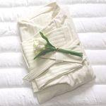 국내생산 호텔식 샤워 가운 (fabric ivory stripe)