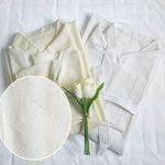국내생산 호텔식 샤워 가운 (classy white 자가드)