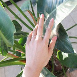 basic silver 10set ring