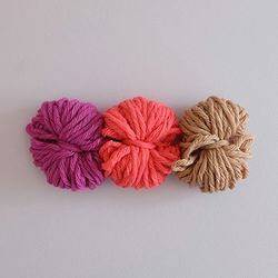 Pink&beige yarn (3 colors))
