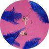 two heart earrings 01.violet (�� ��Ʈ �Ͱ���)