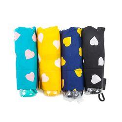 [더 로라] [더로라]휴대용 우산- 5단 접는 우산 -롤리 하트 e540