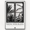 메탈 식물 야자수 액자 Living with plants [대형]