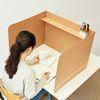 책상위의 나만의 공간 공부집중 칸막이 상단선반형