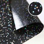 별 - 블랙 글리터 스티커