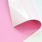 파스텔 - 핑크 인조가죽 스티커