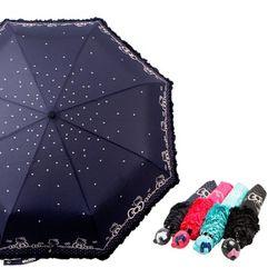 헬로키티 보더리본 3단우산