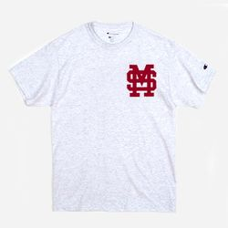 Champion USA Crew Neck T-shirt MSU ash