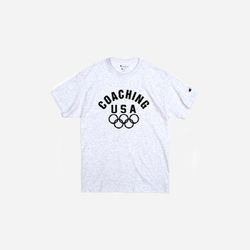 Champion USA Crew Neck T-shirt COACHING USA ash