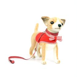6383번 치와와 Chihuahua with Red Dress27cm.L