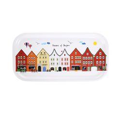 Houses of Bergen 우드트레이 43x22cm (화이트)